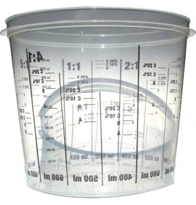 Mixing cup and its lid 1400mL