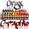 AIRBRUSH PAINTS COMPLETE KIT GRAPHIC