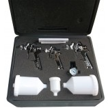 H827 Sprayguns kit 0.8mm-1.4mm-1.7mm