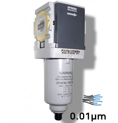 Air purifier filters for compressors and spray guns