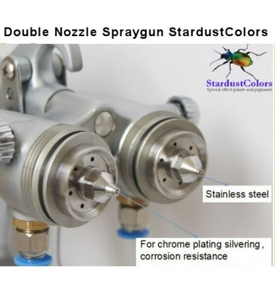 Dual Nozzle Chrome Paint Spray Gun