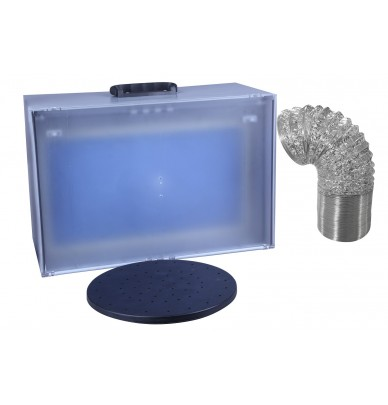 Mini SprayBooth with revolving turntable