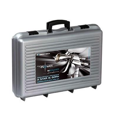 CASE CONTAINING 2 x IWATA SPRAY GUNS - LS400 Entech + WS400 EvoClear