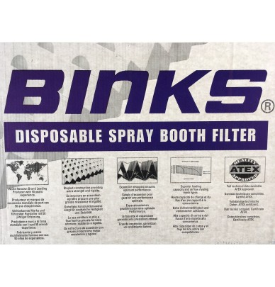 Filters for paint booths