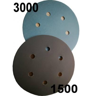 Velcro Sanding Discs, 1500 or 3000 Grit