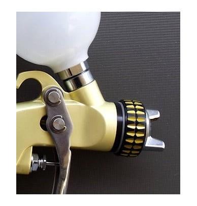 Mini Spray Gun SAT HVLP Premium Gold 0.8mm + 1.0mm