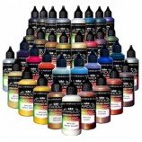 Pearl Metallic Series – 35 Airbrush Acrylic-Polyurethane Paints