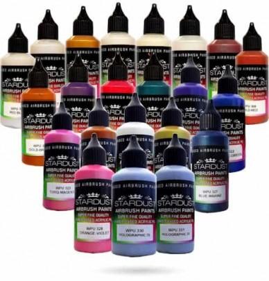 Chameleon Series – 20 Stardust® Airbrush Acrylic-Polyurethane paints