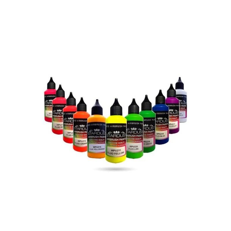 fluorescent series 11 airbrush acrylic polyurethane paints