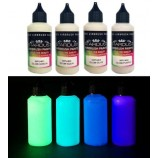 Glow Series - 4 Phosphorescent Airbrush Acrylic-Polyurethane Paints