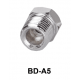 """Adapter fitting for threads from 1/4"""" to 1/8"""""""