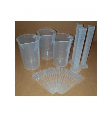 kit of 3 beakers 3 test tubes 20 pipettes