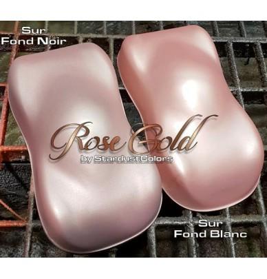 Pink gold metallic paint