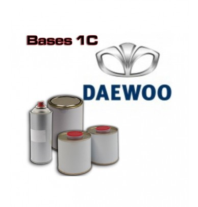 DAEWOO 1K Basecoat - 250ml to 5L Pots - All Auto Colour Codes