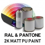 RAL or PANTONE® Colours in 2K Matt Polyurethane Paint