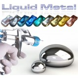 Metallic paint with mirror polish finish stainless steel effect