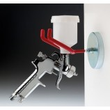 Metal and magnetic paint gun holder
