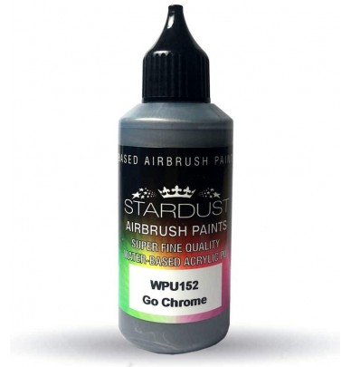 Mirror effect paints for airbrushes