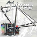 Chrome effect paint for bikes - complete kit in your choice of colors
