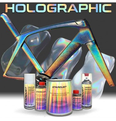 Complete holographic bike paint kit