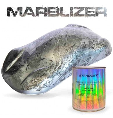 Marble Effect SILVER WHITE 1L