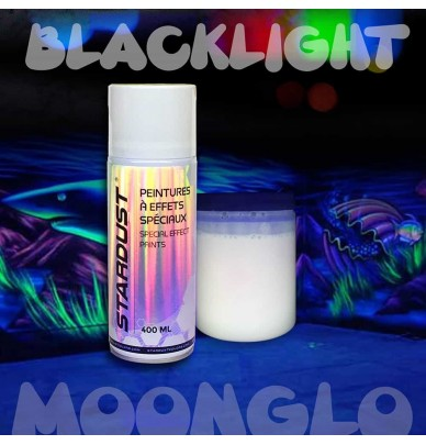 Invisible fluorescent spray paint
