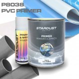 Reactive primer for PVC and plastics, clear or tinted