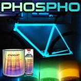 Complete phosphorescent paint kit for bikes