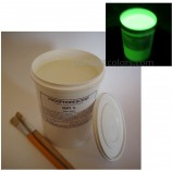 1L ART Waterbased acrylic Phosphorescent paint GREEN