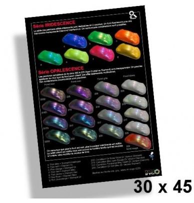 Poster 30x45cm Peintures Iridescentes