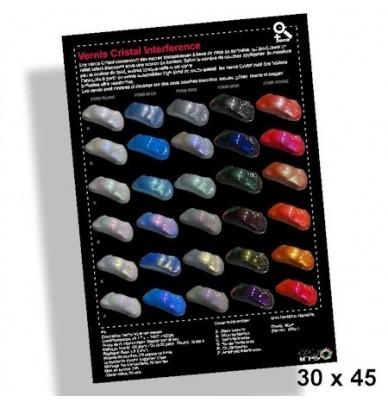 WallPaper 30x45cm Interference paints