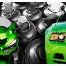 Spray paint for cars and motorcycles