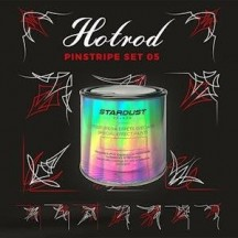 Pinstriping paint and brushes